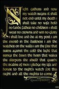 Game of Thrones Nights Watch Oath 24X36 Poster (C: 1-1-2)