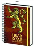 Game of Thrones House Lannister Notebook (C: 1-1-2)