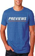 Previews Logo Heather Blue T/S Lg (Net)
