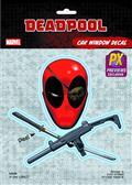 Deadpool Skull & Crossguns PX Vinyl Decal (C: 1-1-1)