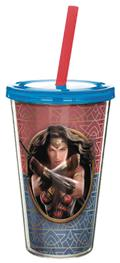 DC Movie Wonder Woman 17 Oz Tumbler With Straw (C: 1-1-2)