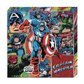 Captain America Action Metallic Canvas Art (C: 1-0-2)