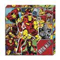 Iron Man Action Metallic Canvas Art (C: 1-0-2)