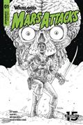 Warlord of Mars Attacks #1 40 Copy Villalobos B&W Incv (Net)