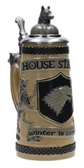 Game of Thrones House Stark Relief Ceramic Stein W/Cap (C: 1