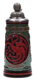 Game of Thrones House Targaryren Relief Ceramic Stein W/Cap