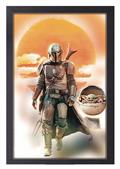 The Mandalorian Mando & Baby Yoda 11X17 Framed Print (C: 1-1