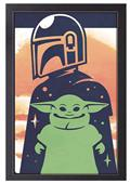 The Mandalorian The Child Vector 11X17 Framed Print (C: 1-1-