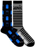 Doctor Who Allover Tardis Crew Sock 2Pk (C: 1-1-2)