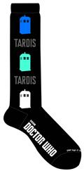 Doctor Who Vertical Tardis Knee Socks (C: 1-1-2)