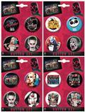 Suicide Squad Button 4 Pk Set 16 Pc Asst (C: 1-1-0)