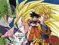 Dbz Goku vs Evil Sublimation Throw Blanket (C: 1-0-2)