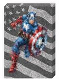 Captain America Action Galvanized Steel Wall Art (C: 1-0-2)