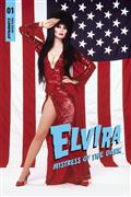 Elvira Mistress of Dark #1 Stars Stripes Photo Cvr