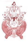 Vengeance of Vampirella #1 Cho Ultra Ltd Red Line Art Cvr