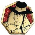 Lupin The Third Golden Zenigata Pin (C: 1-1-2)