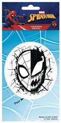 Marvel Heroes Spider-Man Foil Venom Half Face Vinyl Decal (C