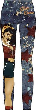 DC Bombshells Wonder Woman Sublimated Leggings Lg (C: 1-1-2)