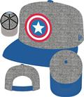 Captain America Shield Heather Action Snap Back Cap (C: 1-1-