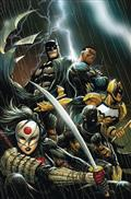 DF Batman Outsiders #1 Gold Sgn Hill
