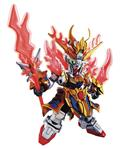 Sangoku Soketsuden Zhang Fei God Gundam Sd Mdl Kit (Net) (C: