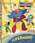 DC-SUPER-FRIENDS-SUPERMAN-LITTLE-GOLDEN-BOOK-HC