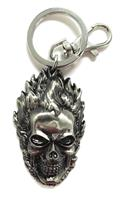 Ghost Rider Head Pewter Keyring (C: 1-1-2)