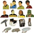 Star Trek 50Th Anniversary Enamel Collector Pin Bmb Disp (C: