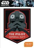 Star Wars Tie Pilot Imperial Navy Badge Window Decal (C: 1-1