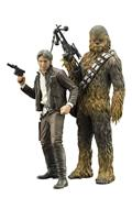 Sw E7 Han Solo & Chewbacca Artfx+ Statue 2Pk (C: 1-1-2)