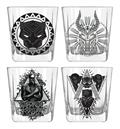 Marvel Heroes Black Panther Wakanda 4Pc 9Oz Glass Set (C: 1-
