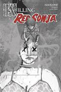 Killing Red Sonja #1 10 Copy Ward Grayscale Incv
