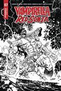 Vampirella Red Sonja #7 15 Copy Gedeon B&W Zombie Incv