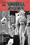 Vampirella Red Sonja #7 40 Copy Romero B&W Incv