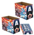 Marvel Captain America Patriot 5Pk Short Comic Storage Box (