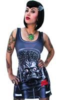 Mars Attacks Martian Tank Dress Blk Lg (C: 0-1-1)