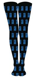 Doctor Who Allover Tardis Tights S/M (C: 1-1-2)