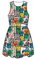 Marvel Comic Pop White Dress Lg (C: 1-1-2)