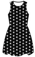 Marvel Punisher Stencil Black Dress Lg (C: 1-1-2)