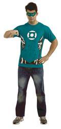 DC Green Lantern T/S W/ Mask & Ring Lg (C: 1-0-2)