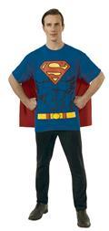 DC Superman T/S W/ Cape Med (C: 1-0-2)