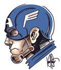 DF Captain America #1 Sgn Remarked Haeser (C: 0-1-2)