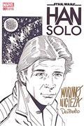 DF Han Solo #1 Sgn Remarked Nicieza & Delbeato Sketch (C: 0-