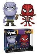 Vynl Avengers Infinity War Thanos & Iron Spider Vin Fig 2Pk