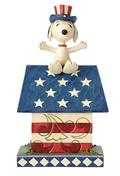Peanuts Patriotic Snoopy Doghouse Figure (C: 1-1-2)