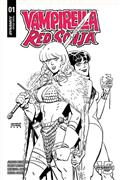 Red Sonja Vampirella #1 40 Copy Romero & Bellaire B&W Incv (