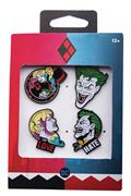 The Joker And Harley 4Pc Boxed Pin Set (C: 1-1-2)
