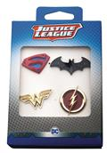 Justice League Logos 4Pc Boxed Pin Set (C: 1-1-2)