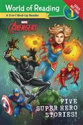 MARVEL-FIVE-SUPER-HERO-STORIES-WORLD-OF-READING-SC-(C-1-1-0