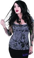 Elvira Comic Strip Off Shoulder T/S Lg (C: 0-1-1)